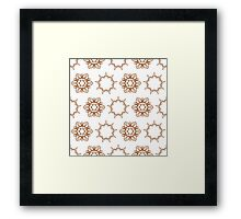 nine angle stars and six petal flowers Framed Print