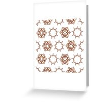 nine angle stars and six petal flowers Greeting Card
