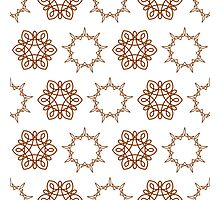 nine angle stars and six petal flowers Photographic Print