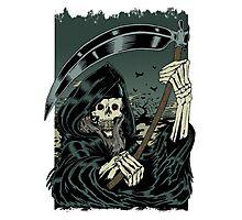 Grim Reaper Halloween Skeleton - Scary Horror Films Photographic Print