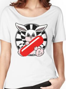 Follow The White Rabbit? - Pince Nez Edition Women's Relaxed Fit T-Shirt