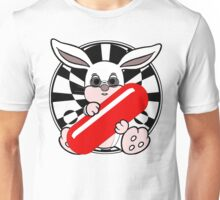 Follow The White Rabbit? - Pince Nez Edition Unisex T-Shirt