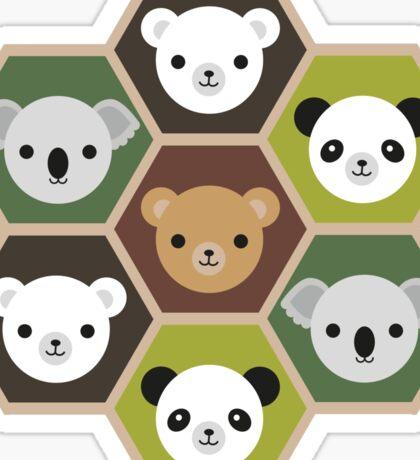 Kawaii Autumn Bears Sticker