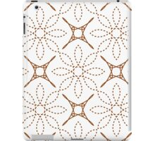 four angle stars and dashed line flowers iPad Case/Skin