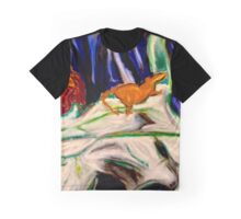 Cow Skull in the Moonlight  Graphic T-Shirt