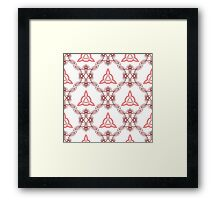 ornament like east triangles and forms like squares Framed Print