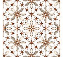 six angle stars and big geometric flowers Photographic Print