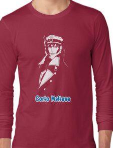 Corto Maltese hugo pratt comic retro vintage sailor venezia malta italy pirate movies tv shows Long Sleeve T-Shirt