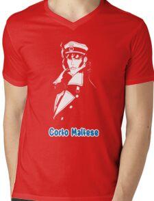 Corto Maltese hugo pratt comic retro vintage sailor venezia malta italy pirate movies tv shows Mens V-Neck T-Shirt