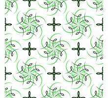 green four angle flowers and figures of wind Photographic Print