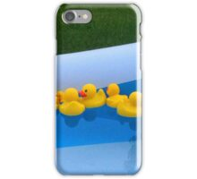 Rubber Duckies in the Pool iPhone Case/Skin