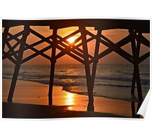 Surfside Pier Sunrise Poster