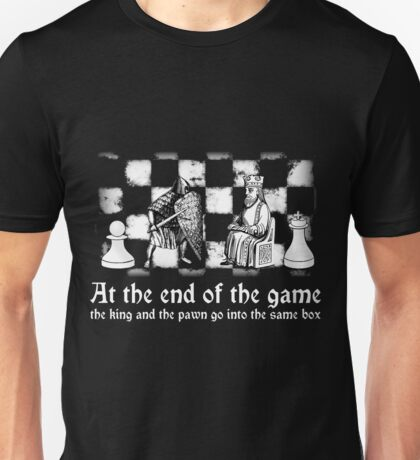 chess deep quote motivational inspirational black white illustration  Unisex T-Shirt