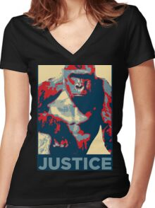 harambe justice Women's Fitted V-Neck T-Shirt
