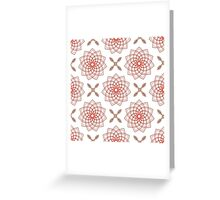 geometric weaving pink forms like flowers and four angle flowers Greeting Card