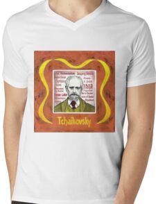 Tchaikovsky - the Russian composer Mens V-Neck T-Shirt