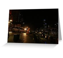 The Yarrah walk Melbourne  Greeting Card