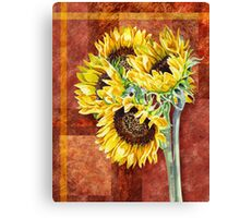 Decorative Sunflowers Canvas Print