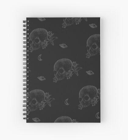 Flowers 'n Skulls Spiral Notebook