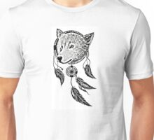 Wolf Dream Catcher Unisex T-Shirt