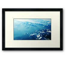 Birds View on the Alps (Velvia) Framed Print