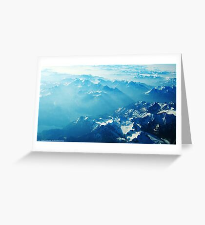 Birds View on the Alps (Velvia) VRS2 Greeting Card