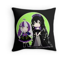 Miako and Roxy - Chibi  Throw Pillow
