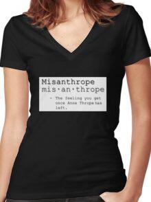Misanthrope Women's Fitted V-Neck T-Shirt