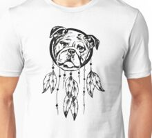 Funny Pug Dream Catcher Unisex T-Shirt