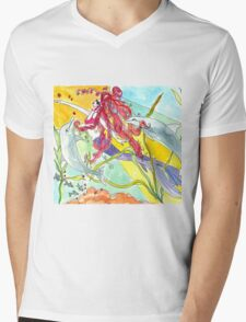 Bubble & Squeak & Olivia Mens V-Neck T-Shirt