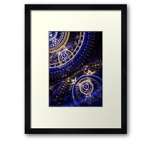 Gears Of Time Framed Print