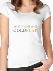 coldplay design by.damar wulan street Women's Fitted Scoop T-Shirt