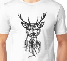 Deer Dream Catcher Unisex T-Shirt