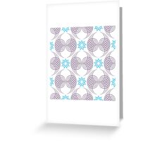 forms like violet wings and blue nine angle stars Greeting Card