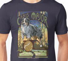 Australian Shepherd Art Nouveau Canis Major Constellation Unisex T-Shirt