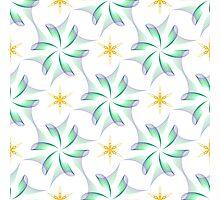 wings like flowers and yellow six angle stars Photographic Print