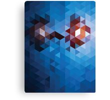 Abstract Geometric Triangle Pattern Canvas Print