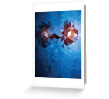 Abstract Geometric Triangle Pattern Greeting Card