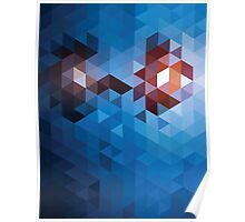 Abstract Geometric Triangle Pattern Poster