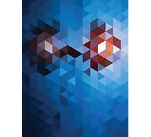 Abstract Geometric Triangle Pattern Photographic Print