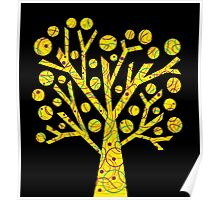 Yellow magical tree  Poster