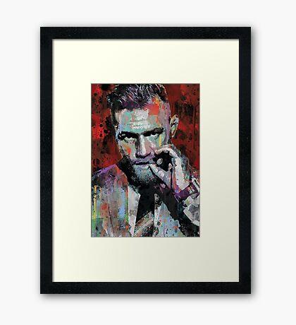 Conor McGregor, UFC Pop Art Portrait Framed Print