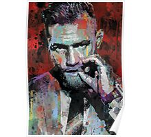 Conor McGregor, UFC, spray paint, street art style Poster
