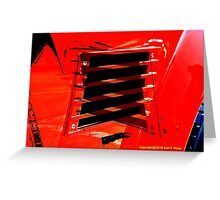 Abstract car reflection Greeting Card