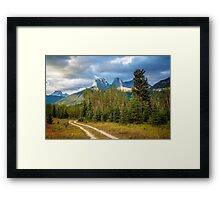 Three Sisters and A Dirt Road Framed Print