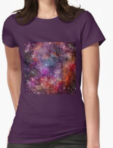 Galaxy - Under The Wing of The Small Megallenic Cloud - Watercolour Womens Fitted T-Shirt