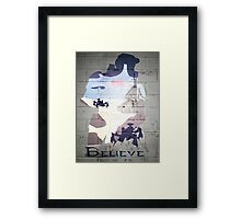 Halo; believe Framed Print