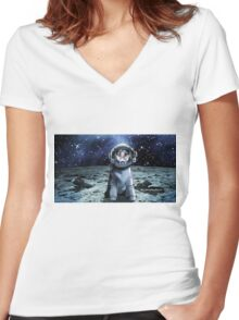 Dingo from Back To the Stars Women's Fitted V-Neck T-Shirt