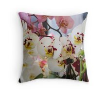 orchid bloom Throw Pillow