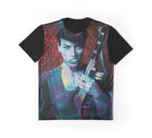 "Retro Rockabilly Pinup ""Tammy Gunn"" Graphic T-Shirt"